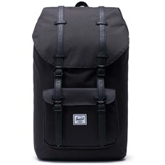 plecak HERSCHEL - Little America Black/Black Synthetic Leather (00535)