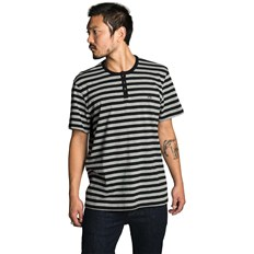 koszulka KREW - Daze Black-Heather Grey Stripe (078)