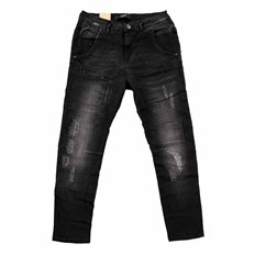 spodnie ICHI - Boyfriend Ilvy Dark Grey Washed (19042)