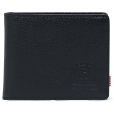 portfel HERSCHEL - Wallets Leather Hank Coin Leather RFID Black Pebbled Leather (01885)