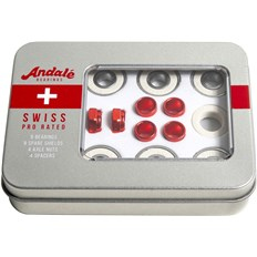łożyska ANDALE - Andale Swiss Tin Box 8 Pk Red (RED)