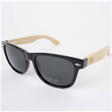 okulary słoneczne SNOWBITCH - Black frame bamboo arms with Smoke  lens 16 (BLACK)