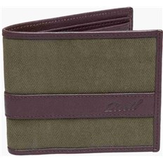 portfel REELL - Canvas Leather Wallet Olive (OLIVE)