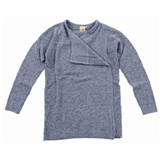 sweter ICHI - Knitted cardigan Dusty Blue (14018)