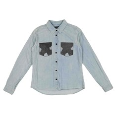 koszula BLEND SHE - Adel Patch Shirt Bleached Lg. Blue (29029)