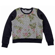 bluza BLEND SHE - Quilty Sweatshirt Dark Grey Melange (20044)