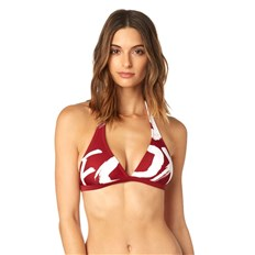 strój kąpielowy FOX - Rodka Fixed Halter Top Dark Red (208)