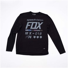 koszulka FOX - Draftr LS Tech Tee Black (001)