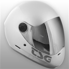 kask TSG - pass solid color (extra transparent visor) silver (334)