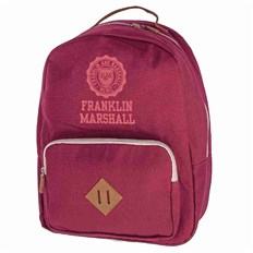 plecak FRANKLIN & MARSHALL - Classic backpack - bordeaux solid (30)