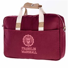 torba na ramię FRANKLIN & MARSHALL - Classic reporter - bordeaux solid (30)