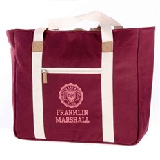 torba FRANKLIN & MARSHALL - Classic shopper - bordeaux solid (30)