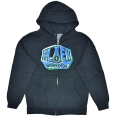 bluza ALIEN WORKSHOP - Og Shift Youth Zipup Chrcl Hthr (SEDA)