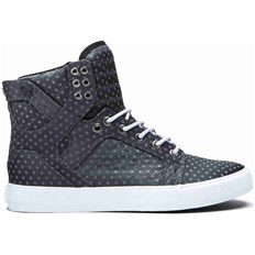buty SUPRA - Skytop Dark Grey Polka Dot-White (067)