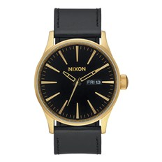 zegarek NIXON - Sentry Leather Goldblack (513)