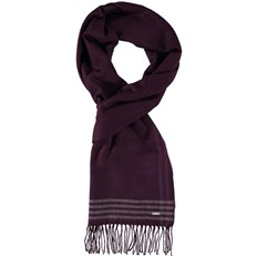 szalik BENCH - Woven Check Scarf Dark Burgundy (BU017)