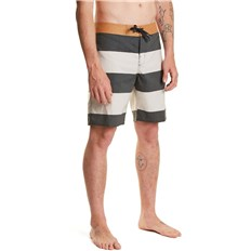 BRIXTON - Barge Stripe Trunk Washed Black/Bone (WABKN)