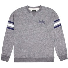 bluza BRIXTON - Barton Crew Fleece Heather Grey (HTGRY)