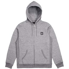 bluza BRIXTON - Bering Zip Hood Fleece Heather Grey (HTGRY)
