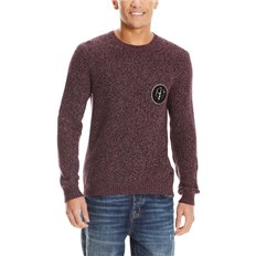 bluza BENCH - C Neck With Badge Dark Burgundy (BU017)