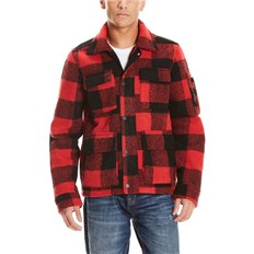 bluza BENCH - Checked Field Jckt Red (RD012)