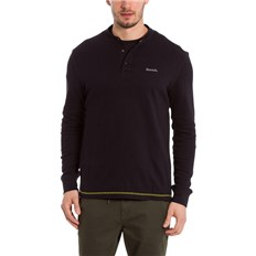 koszulka BENCH - Henley Longsleeve Black Beauty (BK11179)