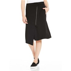 BENCH - Sweat Skirt Asymetrical Zip Front Black Beauty (BK11179)