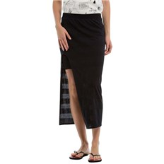 spódnica BENCH - Long Striped Jersey Skirt Black Beauty (BK11179)