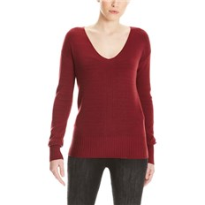 bluza BENCH - Basic V-Neck Jumper Cabernet (RD11343)