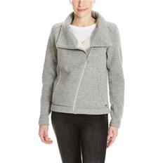 bluza BENCH - Bonded Teddy Biker Jacket Winter Grey Marl (MA1054)