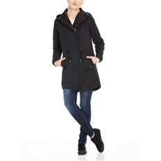 kurtka BENCH - Feminine Coat With Detachable Hood Black Beauty (BK11179)