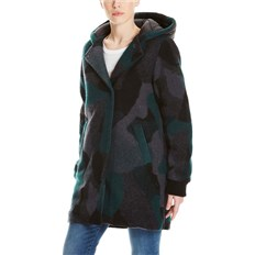 kurtka BENCH - Wool Coat With Nylon Hood Wool Jacquard Black/Ponderosa/ (P1150)