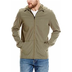 BENCH - Zip Hoodie With Nylon Mix Khaki (GR073)