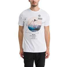 koszulka BENCH - Beach Photo Graphic Tee Bright White (WH11185)