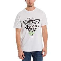 koszulka BENCH - Beach Wave Graphic Tee Bright White (WH11185)