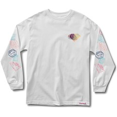 koszulka DIAMOND - Trotter Passport L/S Tee White (WHT)