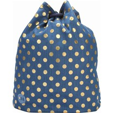 gymsack MI-PAC - Swing Bag Denim Polka Indigo/Gold (007)