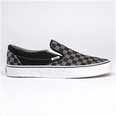 buty VANS - Vans Classic Slip-On black pewter checkerboard (BPJ)