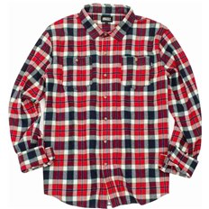 koszula GRIZZLY - Outfield Ls Woven Red (RED)