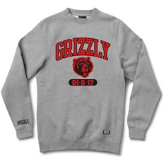 bluza GRIZZLY - Halftime Crewneck Heather Grey (HTHR)