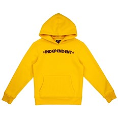 bluza INDEPENDENT - Youth Bar Cross Hood Yellow (YELLOW)