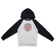 bluza INDEPENDENT - Youth Directional Raglan Hood Black/Athletic Heather (BLACK-ATHLETIC HEATH)