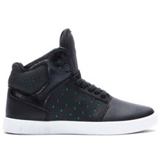 buty SUPRA - Kids Atom Black/Atlantis - White (BLK)