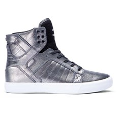 buty SUPRA - Kids Skytop Pewter/Black-White (PTB)