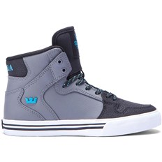 buty SUPRA - Kids Vaider Charcoal/Black/Turquoise-White (CCB)