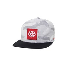 686 - Knockout Snapback Hat White Camo (WHT)