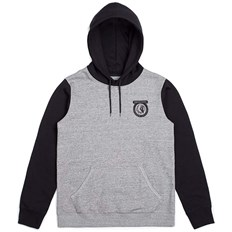 bluza BRIXTON - Native Hood Fleece Heather Grey/Black (HTGBK)