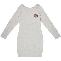 sukienka SANTA CRUZ - Rose Dot LS Dress Grey Heather (GREY HEATHER)