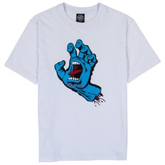 koszulka SANTA CRUZ - Screaming Hand Tee White (WHITE)