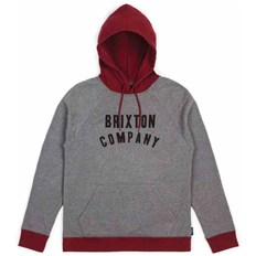 bluza BRIXTON - Barstow Heather Grey/Burgundy (0359)